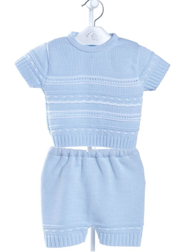 A2485 Boys Pointelle knitted Top & Shorts