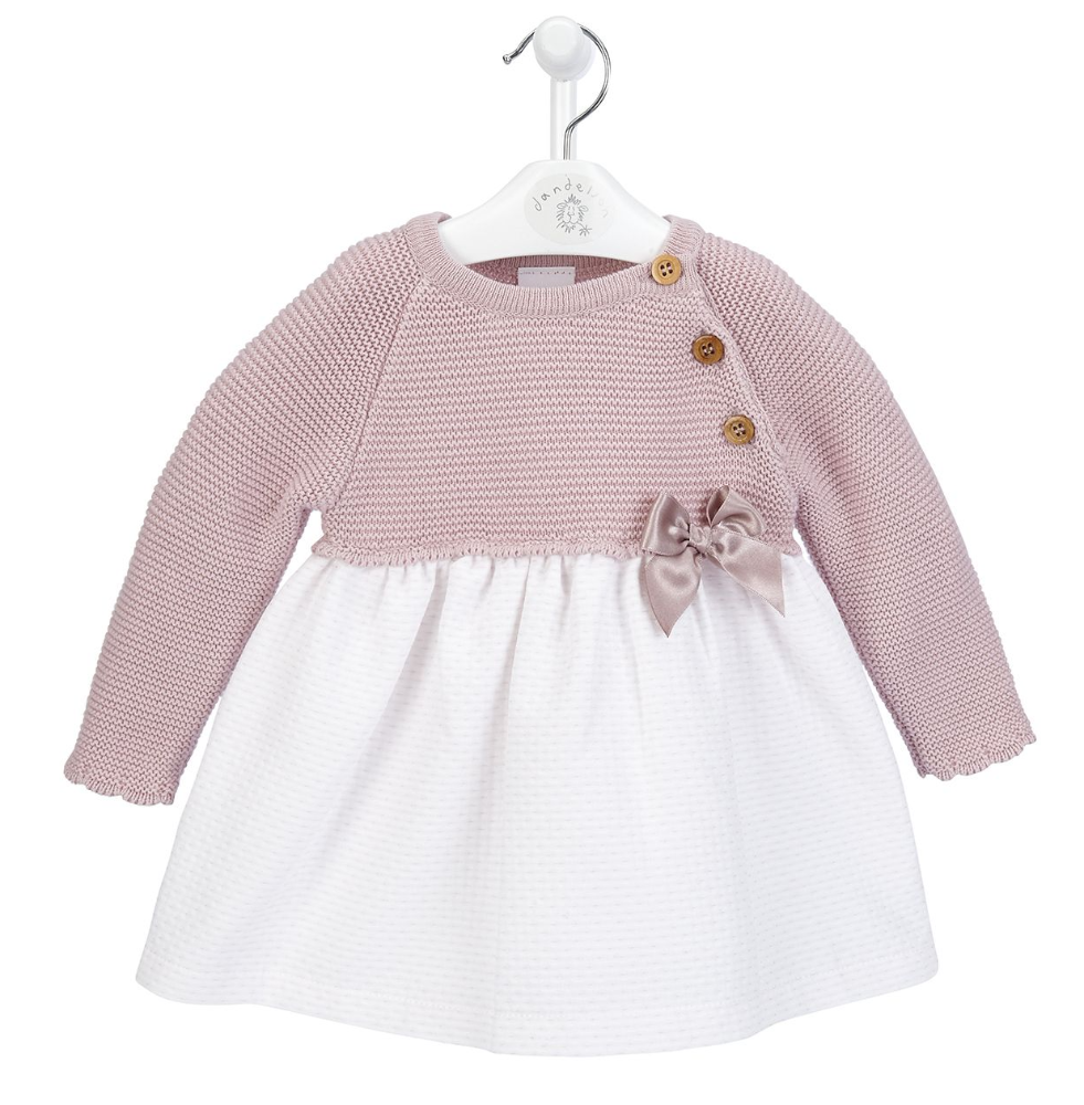 A3409A  Girls  Dress with knitted Top