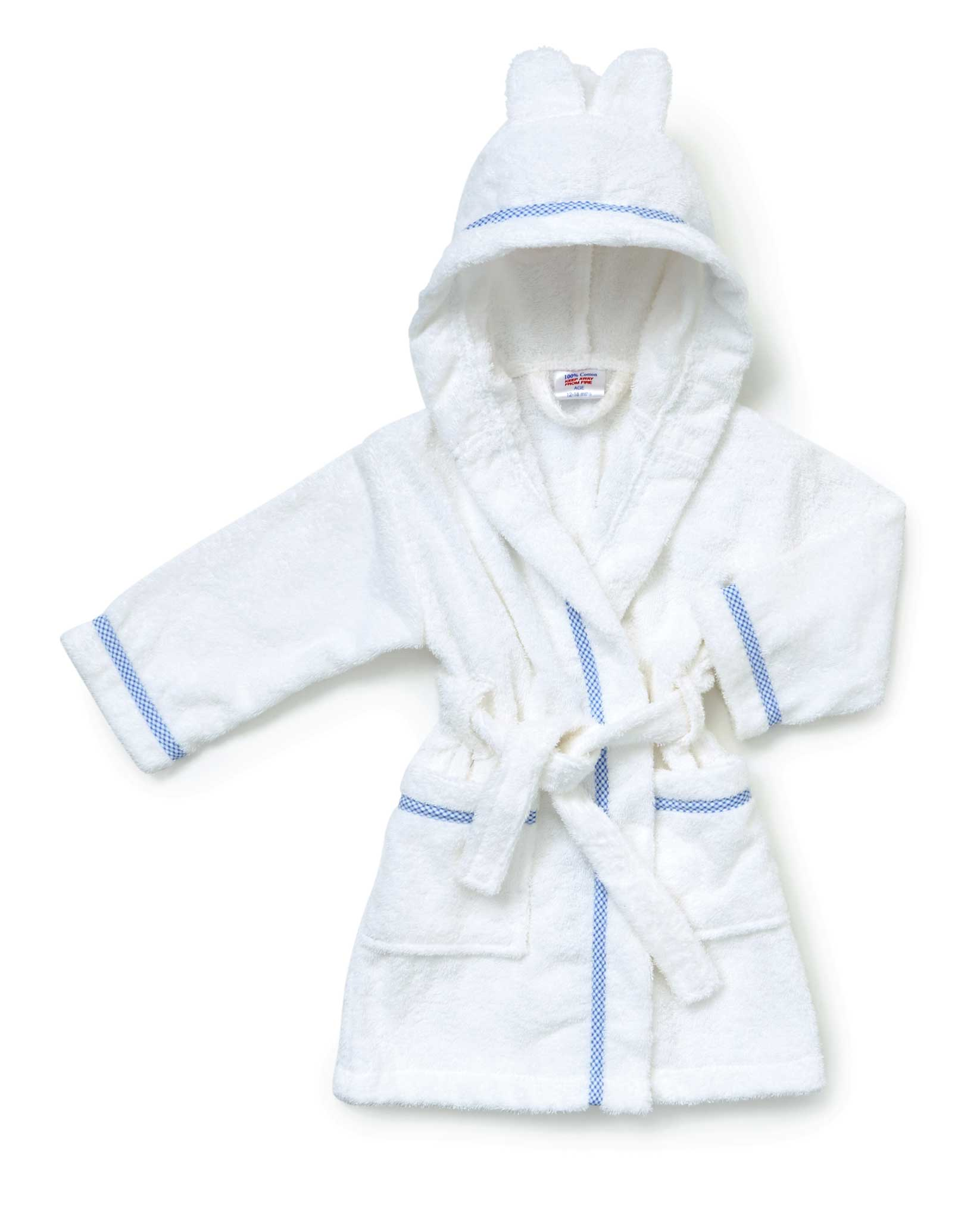 Hooded Towelling Baby Robes Blue