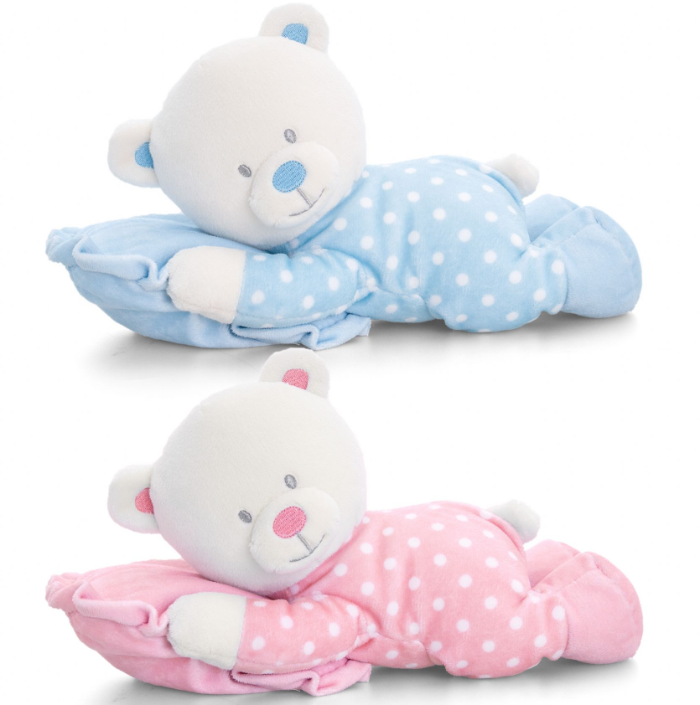 SN1192 25cm Baby Bear on Pillow