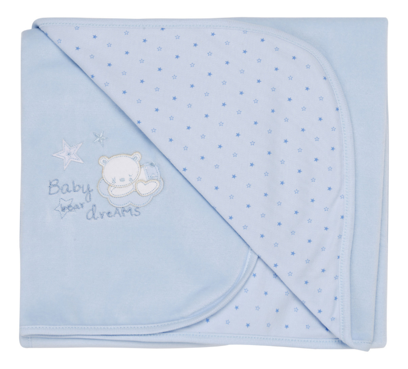Tiny baby Bear cuddle wrap (blue)