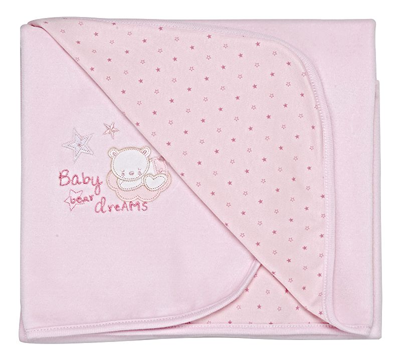 Tiny baby Bear cuddle wrap (pink)