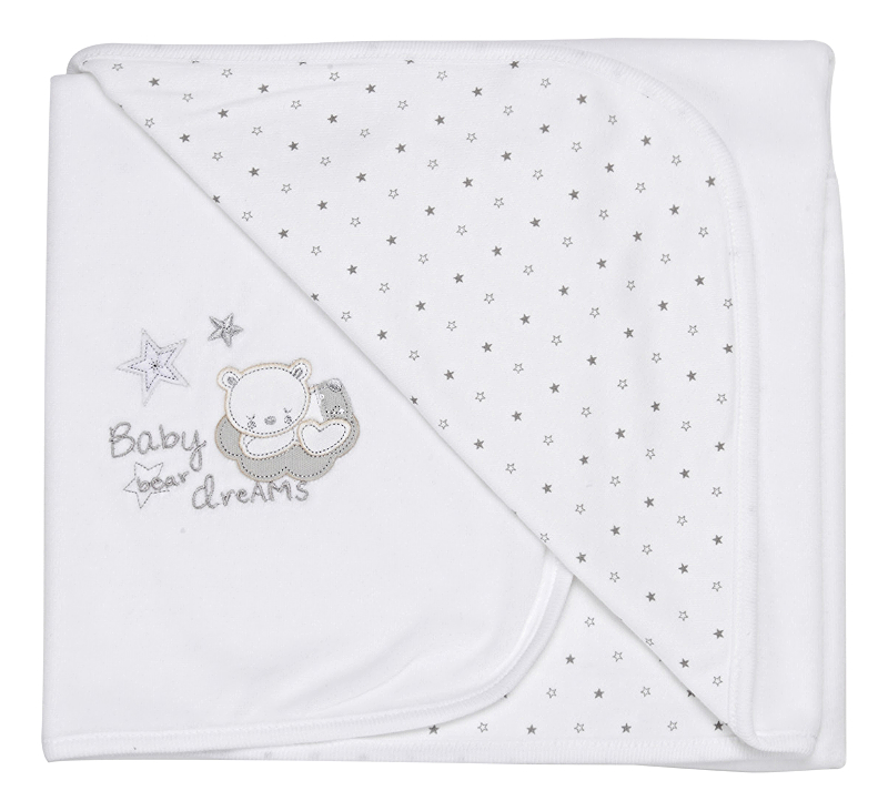 Tiny baby Bear cuddle wrap white